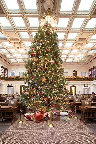 texas house christmas tree