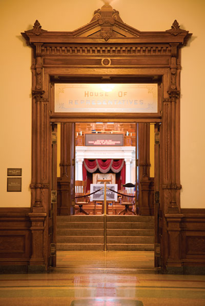 image of the capitol house doorway